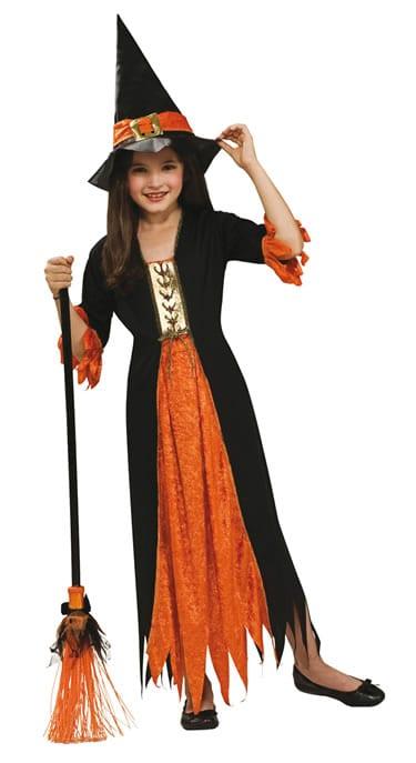 Gothic Witch Children's Halloween Fancy Dress Costume