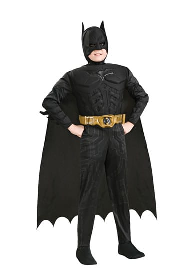 Batman The Dark Knight Rises Deluxe Children's Super Hero Fancy Dress Costume