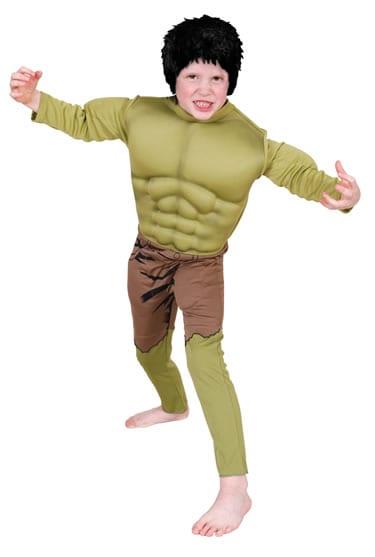 Marvel Avengers Hulk Muscle Chest Children's Fancy Dress Costume