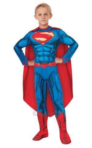 Superman Deluxe Children's Superhero Fancy Dress Costume