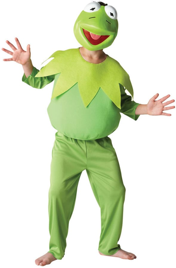The Muppet Show Deluxe Kermit Children's Fancy Dress Costume