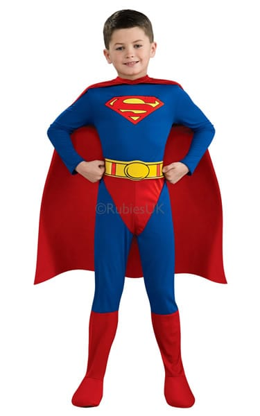 Superman Super Hero Childrens Fancy Dress Costume