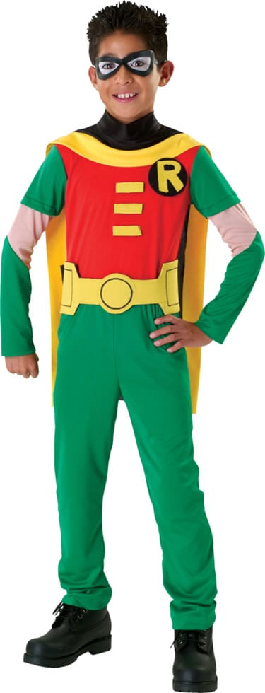 Robin Super Hero Childrens Fancy Dress Costume