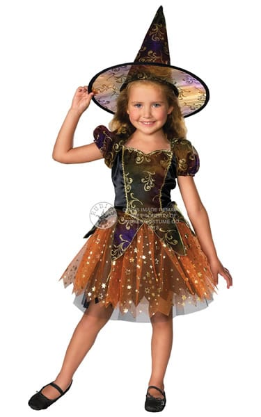 Elegant Witch Children's Fancy Dress Costume