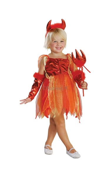 Lil' Devil Girl's Children's Fancy Dress Costume