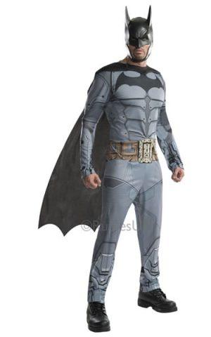 Batman Arkham City Batman Mens Super Hero Fancy Dress Costume