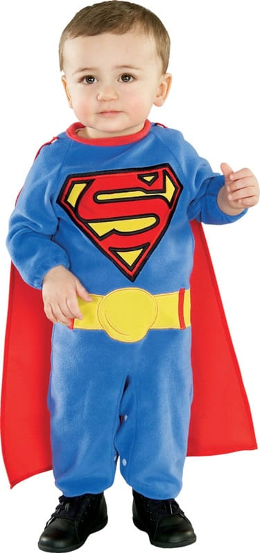 Superman Super Hero Rompersuit Childrens Fancy Dress Costume