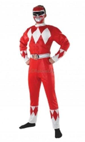 Mighty Morphin Red Power Ranger Men's Fancy Dress Costume