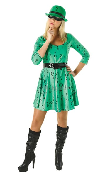 Batman's The Riddler Female Ladies Fancy Dress Costume