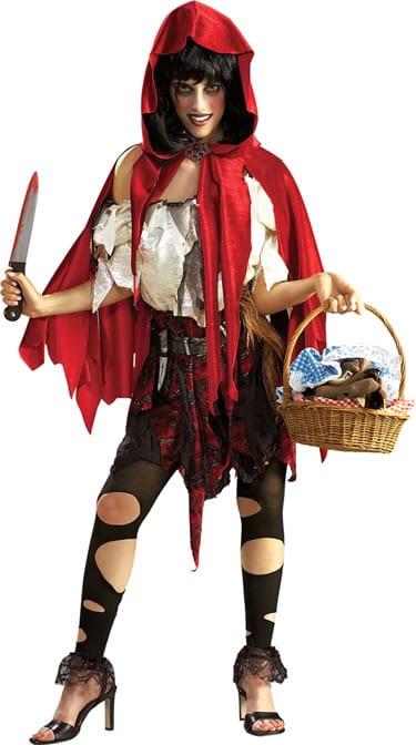 Lil' Dead Riding Hood Ladies Fancy Dress Costume