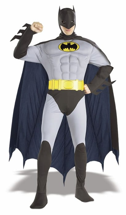 Batman Musclechest Super Hero Mens Fancy Dress Costume