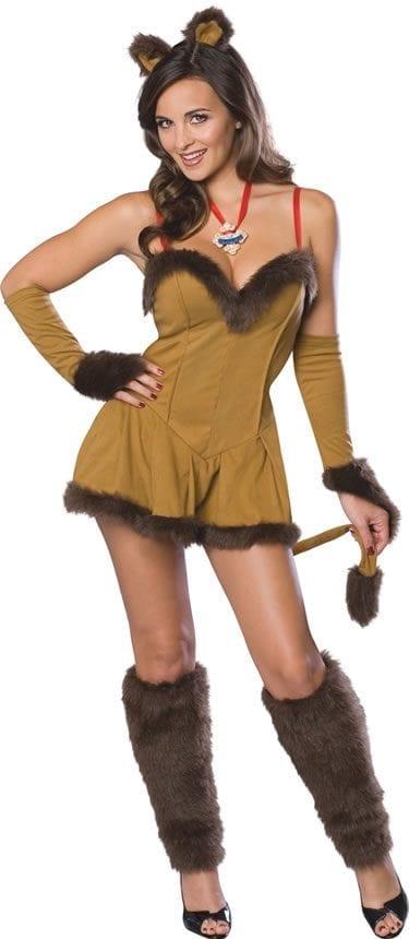 Secret Wishes Wizard of Oz Cowardly Lioness Ladies Fancy Dress