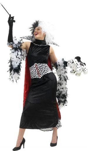 Disney's Cruella De Ville Ladies Fancy Dress Costume