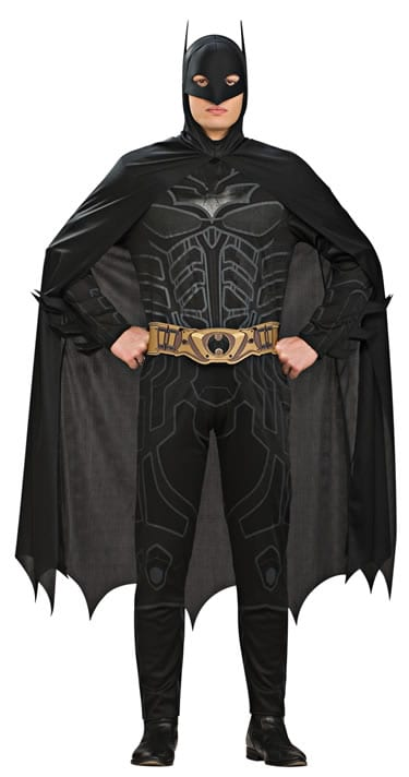 Batman's The Dark Knight Mens Super Hero Fancy Dress Costume