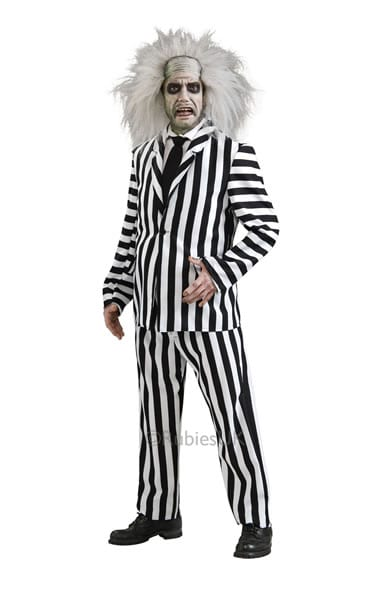 Beetlejuice Deluxe Mens Fancy Dress Costume