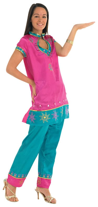 Bollywood Leading Lady (Pink) Ladies Fancy Dress Costume