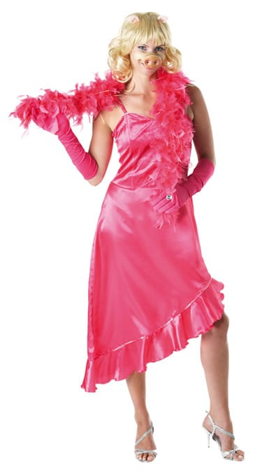 Disney's The Muppet Show Miss Piggy Ladies Fancy Dress Costume