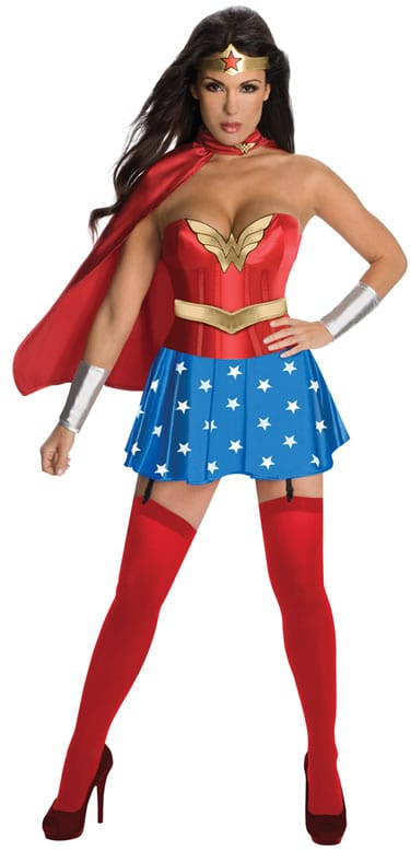 Justice League Wonderwoman Corset Ladies Fancy Dress Costume