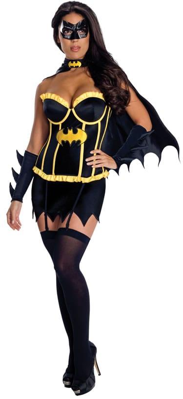 Justice League Batgirl Corset Ladies Fancy Dress Costume