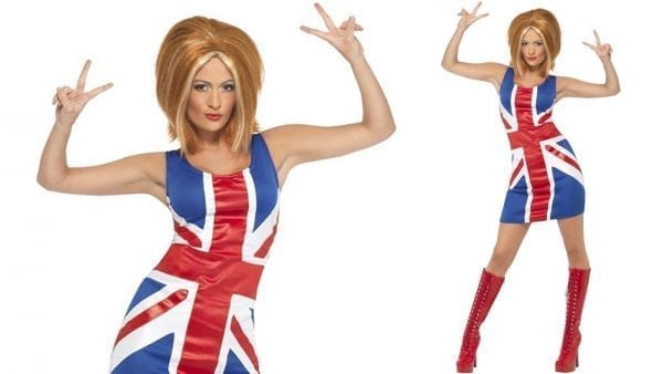 1990's Icon Union Jack (Ginger Power) Ladies Fancy Dress Costume