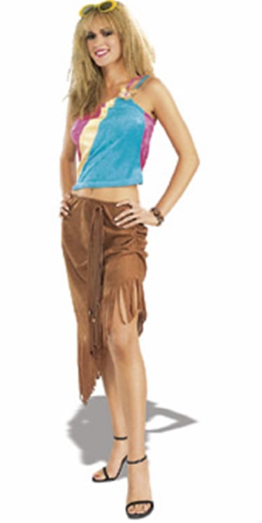Groovy Girl Ladies Fancy Dress Costume