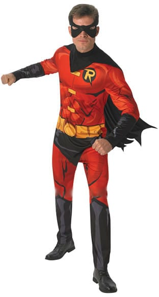 Robin Super Hero Men's Fancy Dress Costume (NEW)