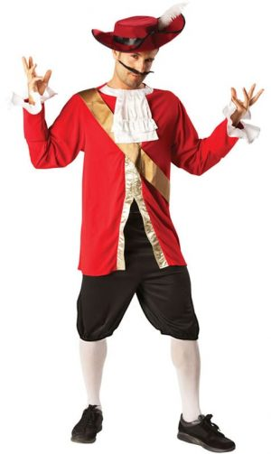 Disney's Captain Hook Men's Fancy Dress Costume