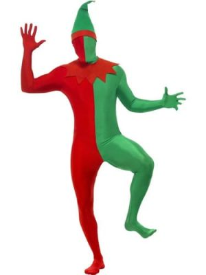 Second Skin Elf Men's Christmas Fancy Dress Costume (DISC)