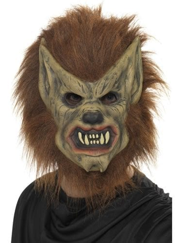 Brown Werewolf 3/4 Face Mask