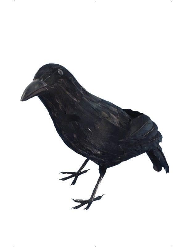 Feathered Crow Halloween Decoration