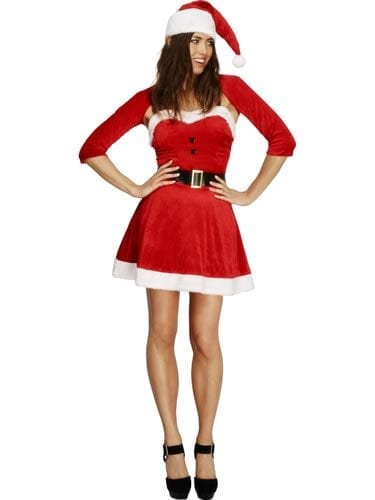Fever Santa Babe Ladies Christmas Fancy Dress Costume