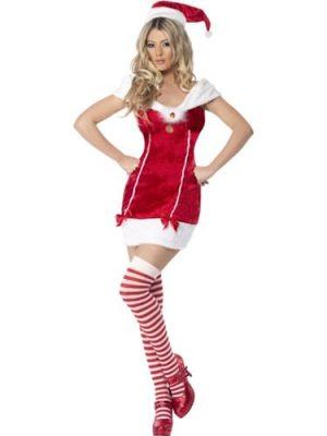 Fever Stocking Filler Ladies Christmas Fancy Dress Costume (DISC)