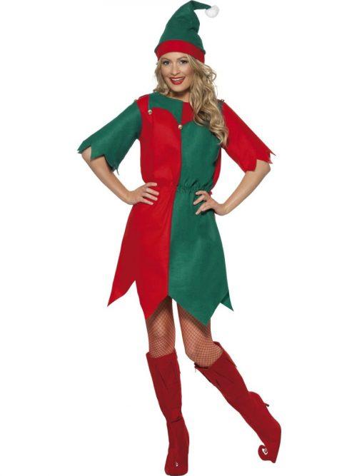 Elf Budget Ladies Christmas Fancy Dress Costume