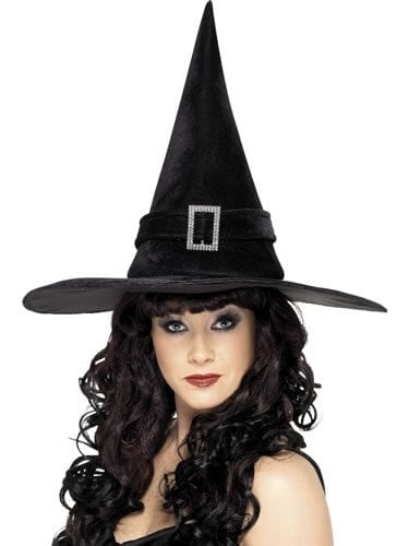 Witch's Hat Black with Diamante Buckle