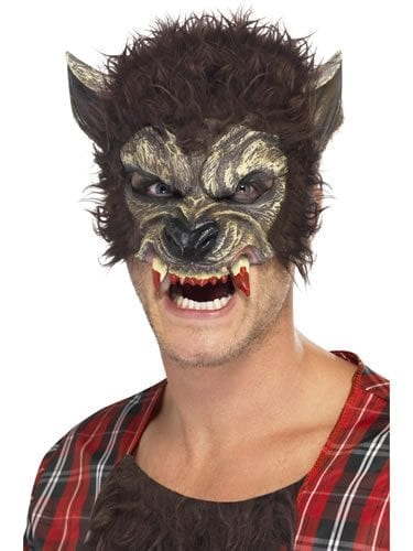 Werewolf Brown Half Face Mask