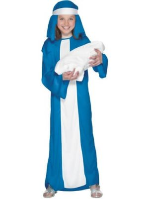 Mary Childrens Christmas Fancy Dress Costume