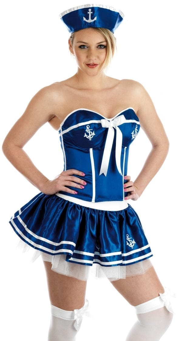 Cheeky Sailor Girl Ladies Fancy Dress Costume