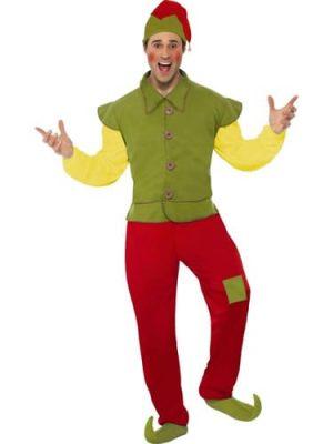 Elf Men's Christmas Fancy Dress Costume (NEW)