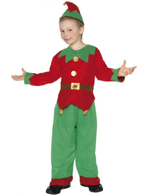 Elf Unisex Childrens Christmas Fancy Dress Costume