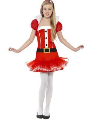 Miss Santa Tutu Children's Christmas Fancy Dress Costume (DISC)