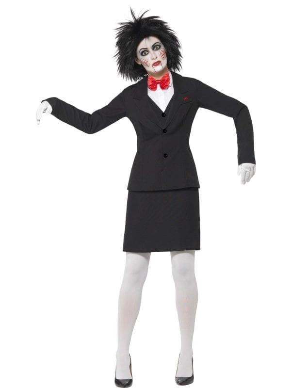 Saw Jigsaw Ladies Halloween Fancy Dress Costume