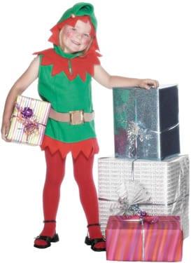 Elf Toddler Childrens Christmas Fancy Dress Costume
