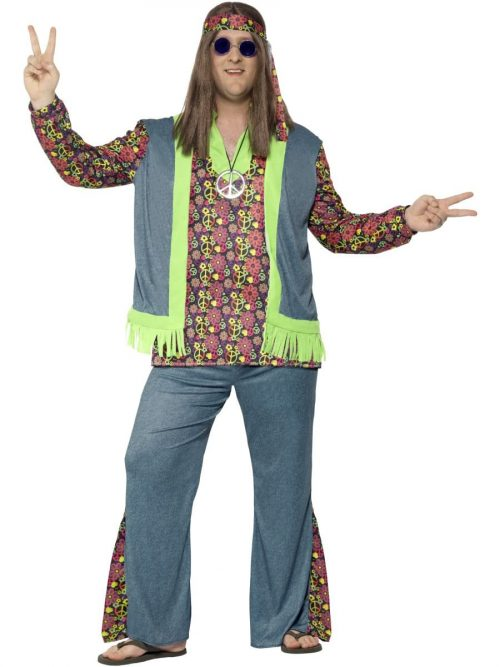 Hippie Curves Men's Fancy Dress Costume