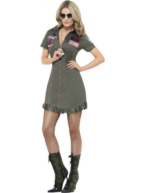Top Gun Deluxe GI Ladies Fancy Dress Costume