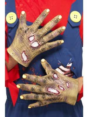 Decaying Zombie Latex Gloves
