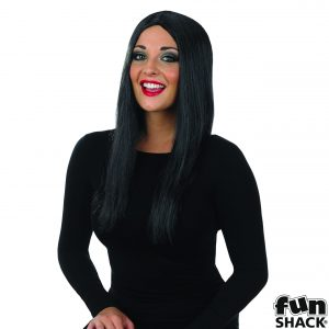 Black Wig Long with Centre parting