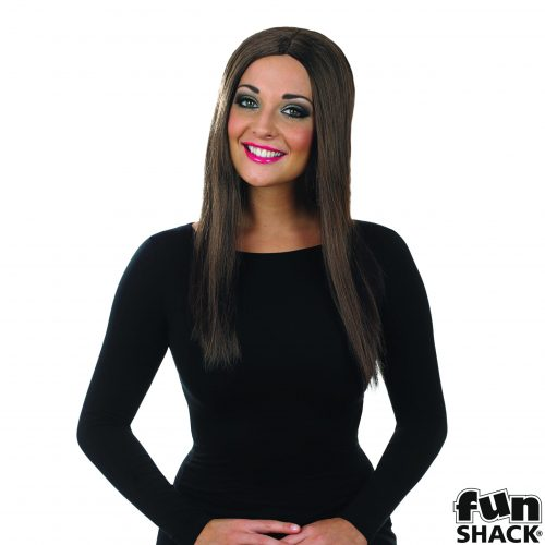 Brown Wig Long with Centre parting