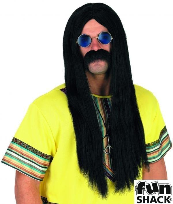 Black Hippie Wig