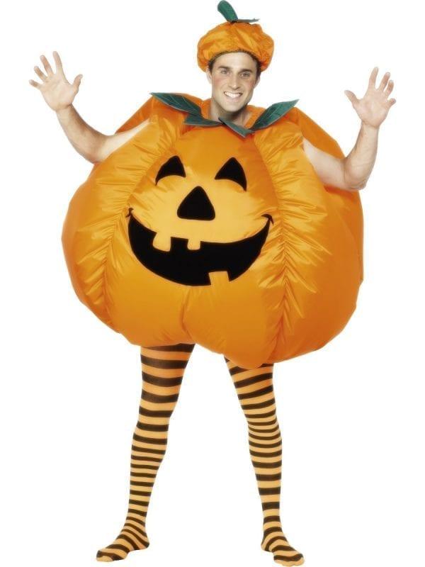Inflatable Pumpkin Halloween Mens Fancy Dress Costume