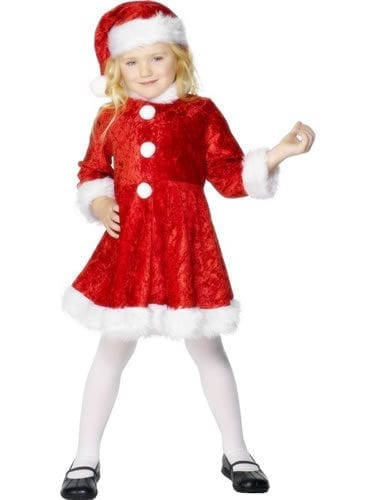 Mini Miss Santa Ladies Fancy Dress Costume